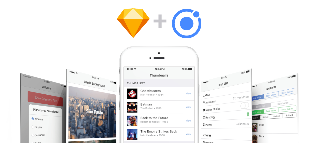 Build ionic in Sketch